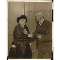 1922 Press Photo Mrs. Katherine M. Evans, Oldest Living Actress at Age 77