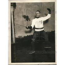 1923 Press Photo Giacinto Sanges, Italy's fencing master & champion foilsman