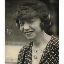1923 Press Photo Miss Alice ??, Pres of Anti flirt Club in Wash.D.C.