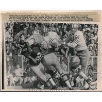 1965 Press Photo Ed Beard, 49ers, Elijah PItts, Bart Star Green Bay Packers