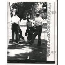 1957 Press Photo Central High School Little Rock Unrest Black Students Attend