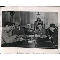 1941 Press Photo Havana, Cuba Col M Bernitez,Col L Mequeyer, Dr D Ramos,