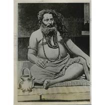 1928 Press Photo Srimet Dajoy Krdshna Gaswamy, a Hindu Sadhoo