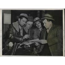 1932 Press Photo Henry Fisher,CM Wallace,F Korenich, Marsh, Hunger marchers
