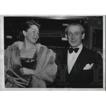 1950 Press Photo Major Alexander De Seversky, noted aviation expert & Mrs. De