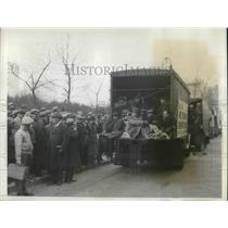 1932 Press Photo Newark, NJ hunger marchers arrive in D.C. - neb75997