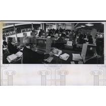 1969 Press Photo Mohawk Airlines new reservation center with IBM system