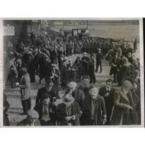 1932 Press Photo Hunger Marchers leave Wilmington, Del.