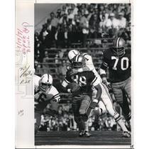 1971 Press Photo Reggie Rucker Dallas Cowboys, Rick Volk Colts, Super Bowl Miami
