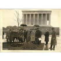 1923 Press Photo Lincoln Memorial Mrs. Calvin Coolidge, Henry Churchill King