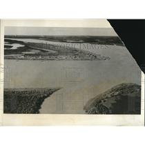 1931 Press Photo Aerial View of Aklavik Northwest Territories