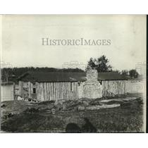 1919 Press Photo Building Made of Logs in Mooseheart, Illinois