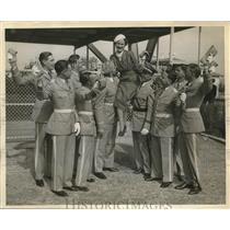 1934 Press Photo Sky-Ride Aero Club blanche Waddell Capt. Lewis E. Clark