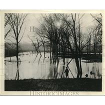 1921 Press Photo Old Swimming hole made famous by James whitecomb Riley