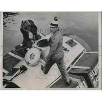 1936 Press Photo Ernest Biegaski to sail the Atlantic ocean to Southampton