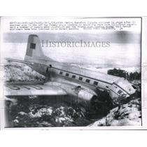 1957 Press Photo Helsinki, Finland Sovier Aerflot plane crashed