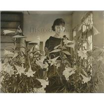 1925 Press Photo Easter lilies grown at Dept of Agriculture at Washington, DC