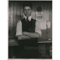 1920 Press Photo Irvine Williams Newspaper Man