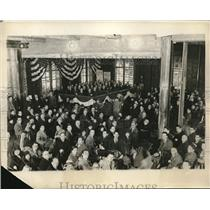 1923 Press Photo New York City YMCA Ceremony