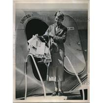 1936 Press Photo Famous Globe-Trotting Hat Mickey Property of Albert Wickey