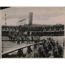 1919 Press Photo Grenadier Guardsm 2nd Batt, march in London