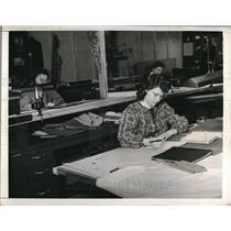 1942 Press Photo Jane Root,Frances Jackson & Rose Ondrey Female Draftsmen
