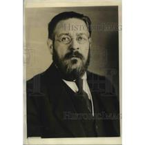 1923 Press Photo M. Albert Thomas, Director of Int'l Labor Office at Geneva