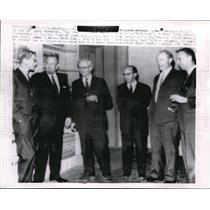 1962 Press Photo Nobel Prize Winners Attend Reception Eve of Award Ceremony