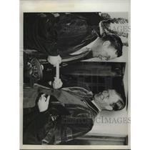 1936 Press Photo Political commentator Walter Lippman & Dr Alan Valentine