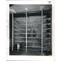 1957 Press Photo Aeronautics Lewis Flight Labs in Cleveland, Ohio