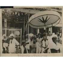 1930 Press Photo Citizens Of Indian Hold Protest For Freedom