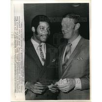 1969 Press Photo Connie Hawkins, Johnny Kerr, Phoenix Suns at News Conference