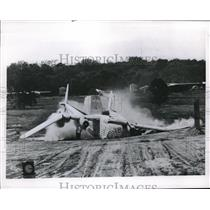 1953 Press Photo US Plane Wrecks At NACA Research Program