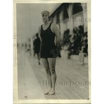 1922 Press Photo Gartrude Artolt Swim Champion of Philadelphia in Miami, Florida