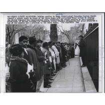 1967 Press Photo Harlem protesters march for congressman Adam Clayton Powell