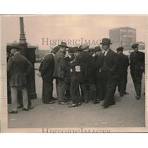 1919 Press Photo Longshoresmen Striking at New York Dock