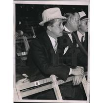 1935 Press Photo David F. Willens at Baer/ Lewis fight at Yankee Stadium