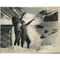 1924 Press Photo Nina Huish, Grace Pearry on glacier at Mt Timangos - neb94491