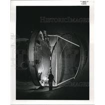 1957 Press Photo Natl Aeronautics Lewis Flight Labs in Cleveland, Ohio
