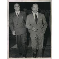 1944 Press Photo Ernest Peter Purge Convicted Nazi Saboteur & Frank Brown