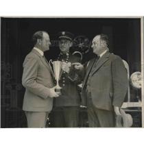 1927 Press Photo JL Van Nerman,LA Chamber of Commerce, Fire Chief RJ Scott