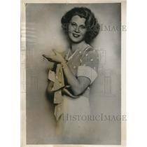 1932 Press Photo Miss Amy Merrett Austro-American Girl 1st President Vienna Girl