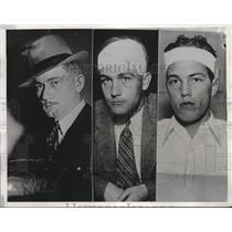 1933 Press Photo La, Cal. Det  Lt WA Stanger , criminals P Hoffman, M Hunt