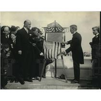 1922 Press Photo Crawford McCoullough Americas Unkown Arlington National Cemetar