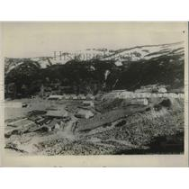 1928 Press Photo Arial view of a Chilean Village after large earthquake