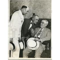 1932 Press Photo Ed McCullen, Charles Hellinger, Chas Kohler at Drake Hotel