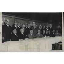 1931 Press Photo Railway Labor Union  meeting