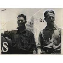 1928 Press Photo Minard Cole & Edward Koehler International Airmail Service