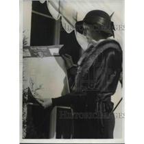 1932 Press Photo Miriam Ferguson Casts Ballot During Election In Texas