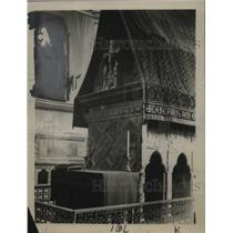 1922 Press Photo Tomb OF Edward The Confessor At Westminster Abbey In London